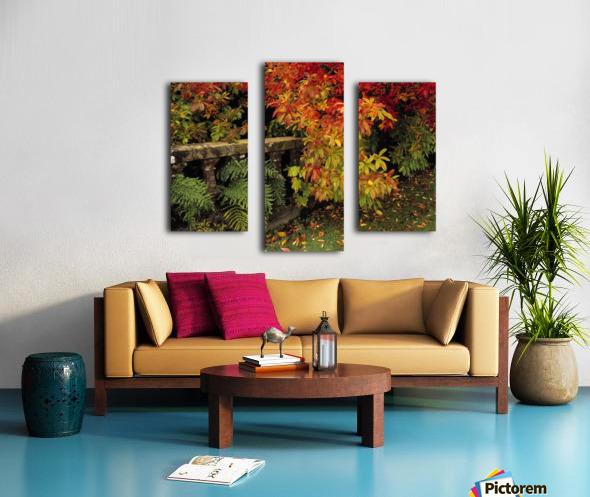 Balustrades & Autumn Colours, Castlewellan, Co Down, Ireland Canvas print