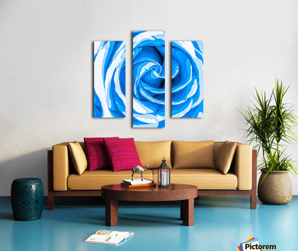 closeup blue rose texture abstract background Canvas print