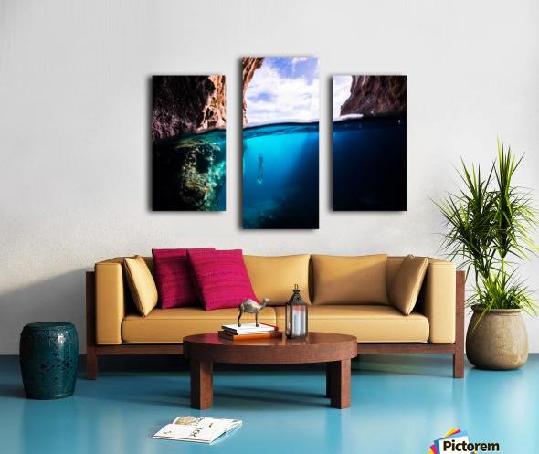 Cave diving Canvas print