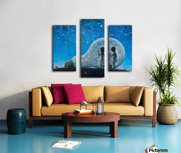 The Night We Broke The Moon Canvas print