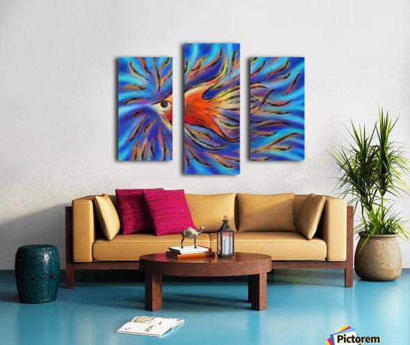 Poloniussa - red angelfish Canvas print