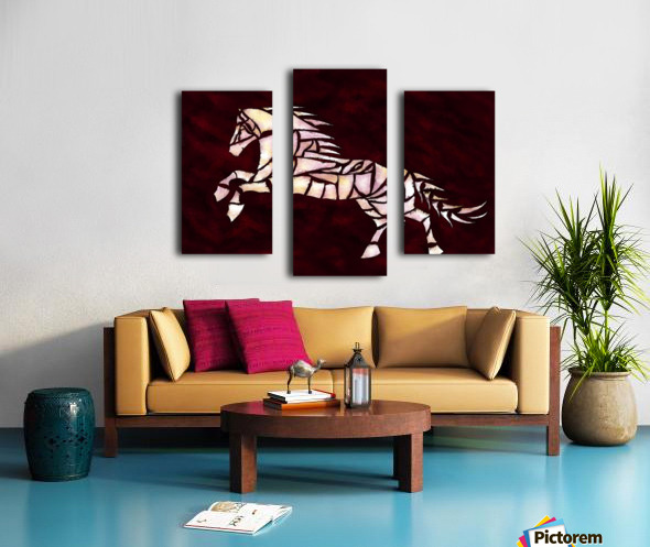 Cavallerone - white horse Canvas print