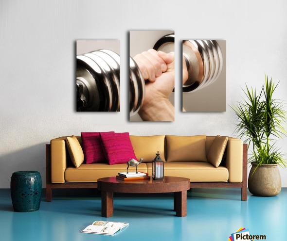 Lifting Weights Canvas print