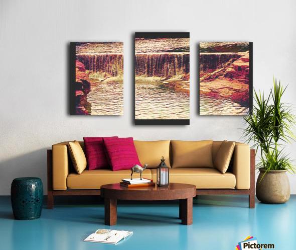 Medicine Park waterfall pic art Canvas print