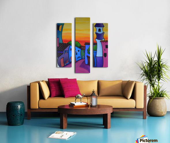 Lane in Languedoc Canvas print