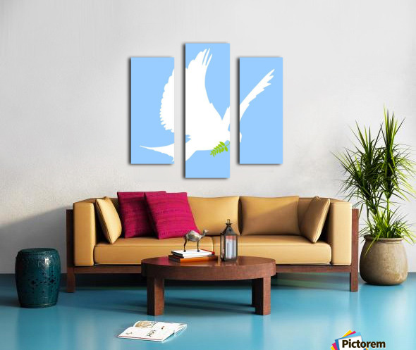 Dove And Olive Branch Canvas print