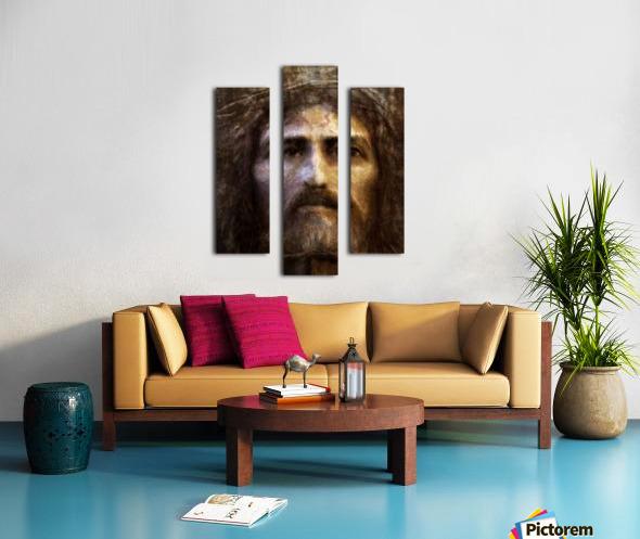 Christ face reconstruction Canvas print