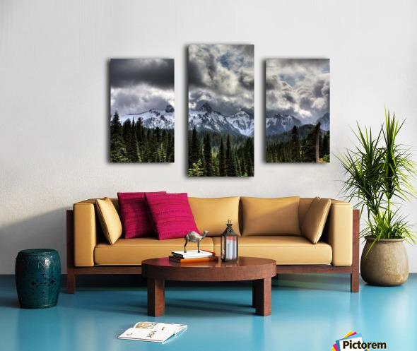 Storm Clouds, Mount Rainier, Pierce County, Washington Canvas print