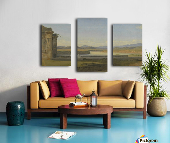 Landscape near Hamburg Canvas print