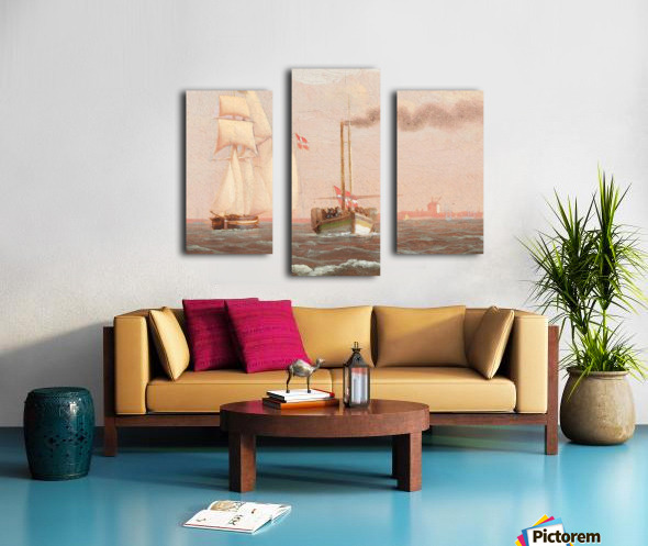 Danish paddle steamer Canvas print