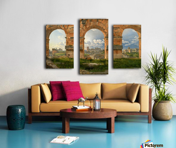 A View through Three of the North-Western Arches of the Third Storey of the Coliseum in Rome, 1815 Canvas print
