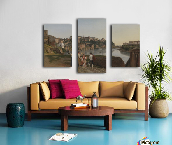 View of the Tiber near Ponte Rotto Canvas print