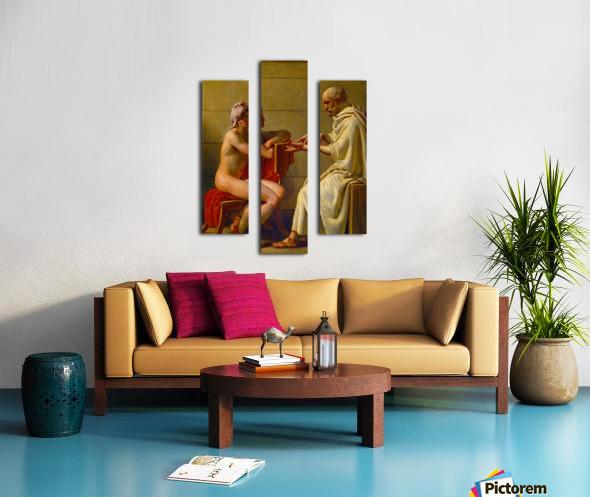 Socrates and Alcibiades Canvas print