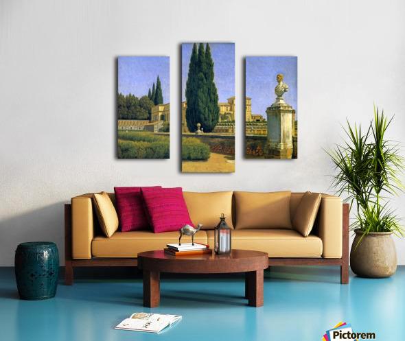 In the Gardens of the Villa Albani Canvas print