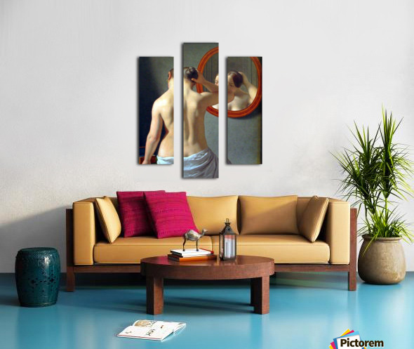 Woman in front of a mirror Canvas print