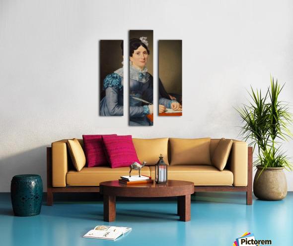 Portrait of Sarah Wolff Canvas print