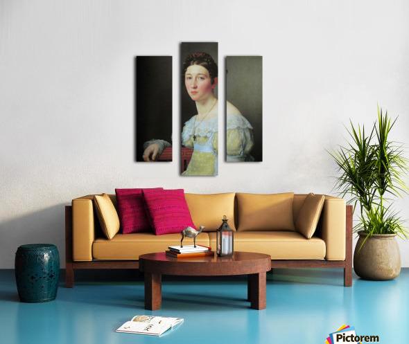 Portrait of Emilie Henriette Massmann Canvas print