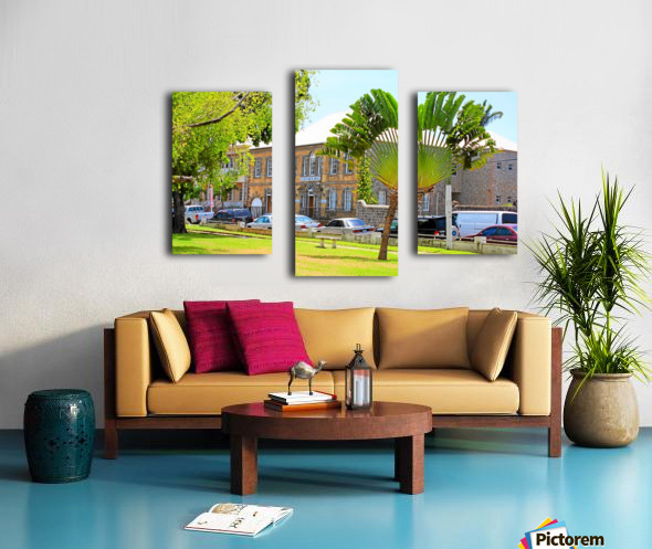 St Kitts Independence Square 3 Canvas print