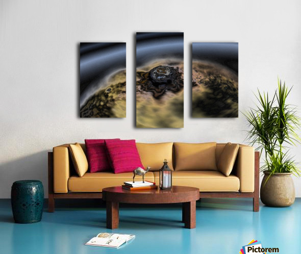 aerial view of planet citrrus rings Canvas print