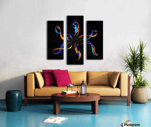 Efenissium - space dolphins Canvas print