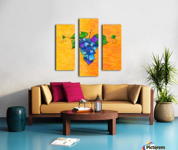Jamurissa - square grapes Canvas print