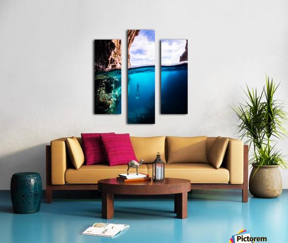 Cave diving vert Canvas print