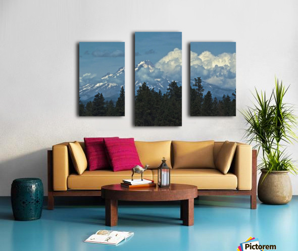 Mt Hood & Clouds Canvas print