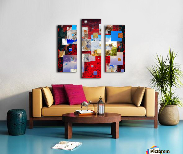Espanissia - square flowers Canvas print