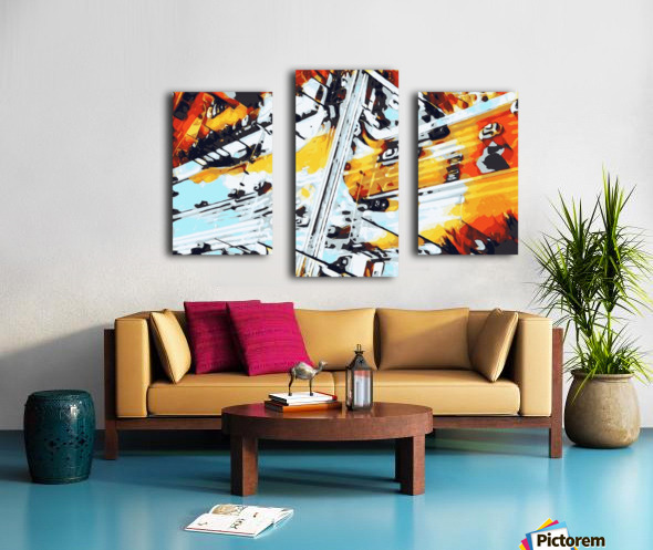 road in the city geometric abstract background Canvas print