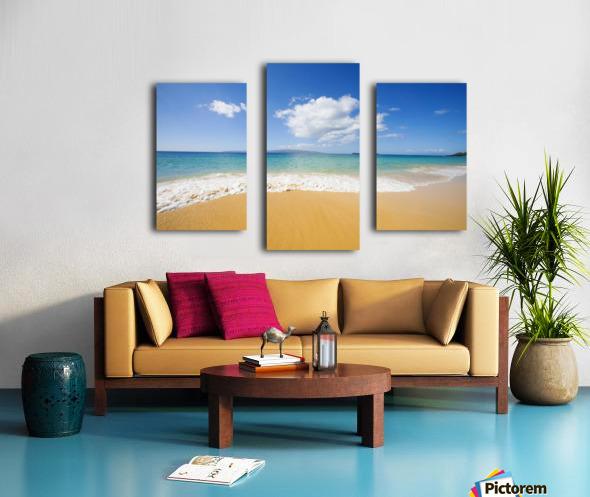 USA, Hawaii Islands, Maui, Big Beach; Makena Canvas print