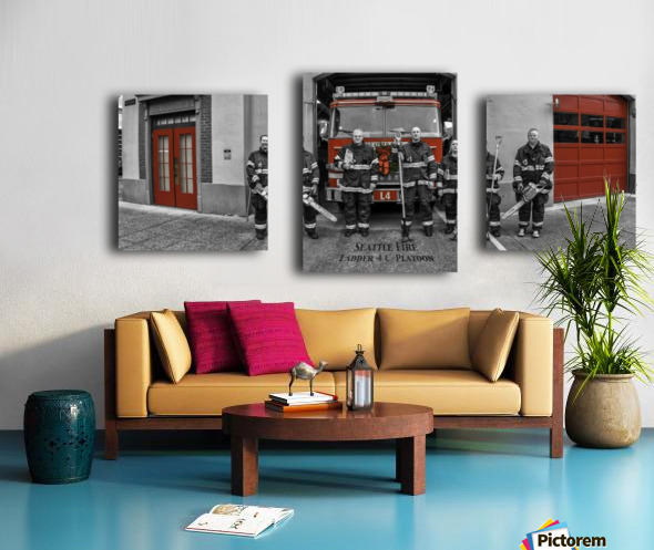 Seattle Fire Department Station 2, Ladder 4 C Colored Doors Canvas print
