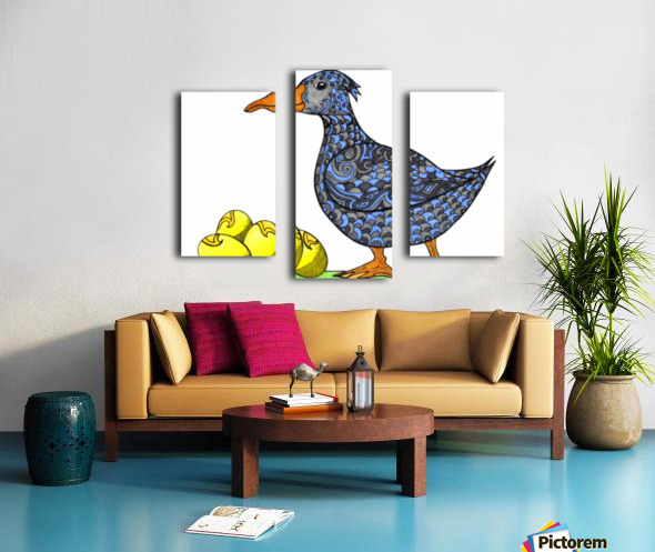 Goose and Golden Eggs Canvas print