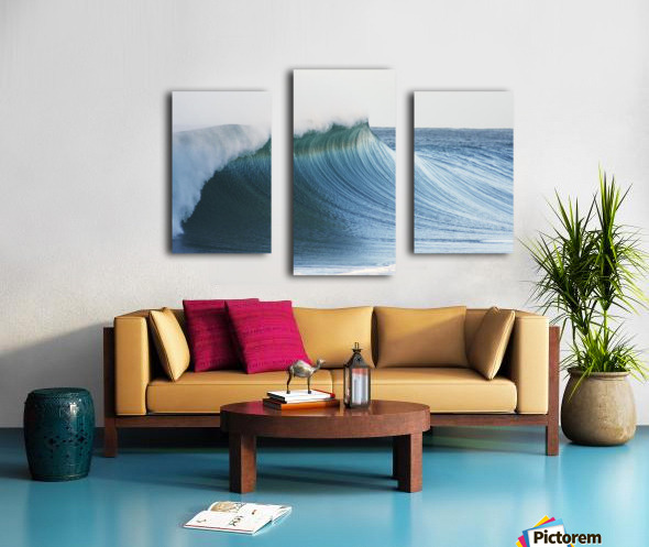 Hawaii, Oahu, Beautiful Wave Breaking. Canvas print