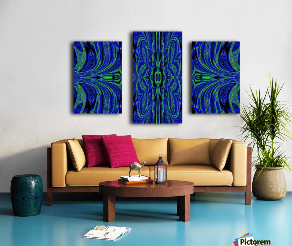 Blue Butterfly in Green Canvas print