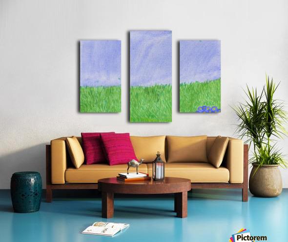 field of grass Canvas print