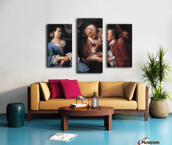 The sitting, 1754 Impression sur toile