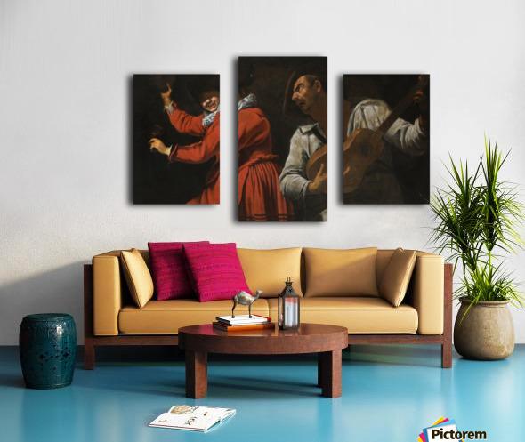 The two musicians Impression sur toile
