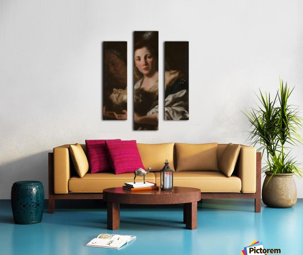 Judith with the head of Holofernes Impression sur toile