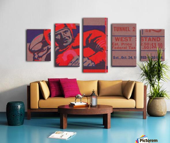 Football Ticket Stub Art Cool Sports Home Decor For Fans Best Interior Design Ideas 2020 Row One Brand
