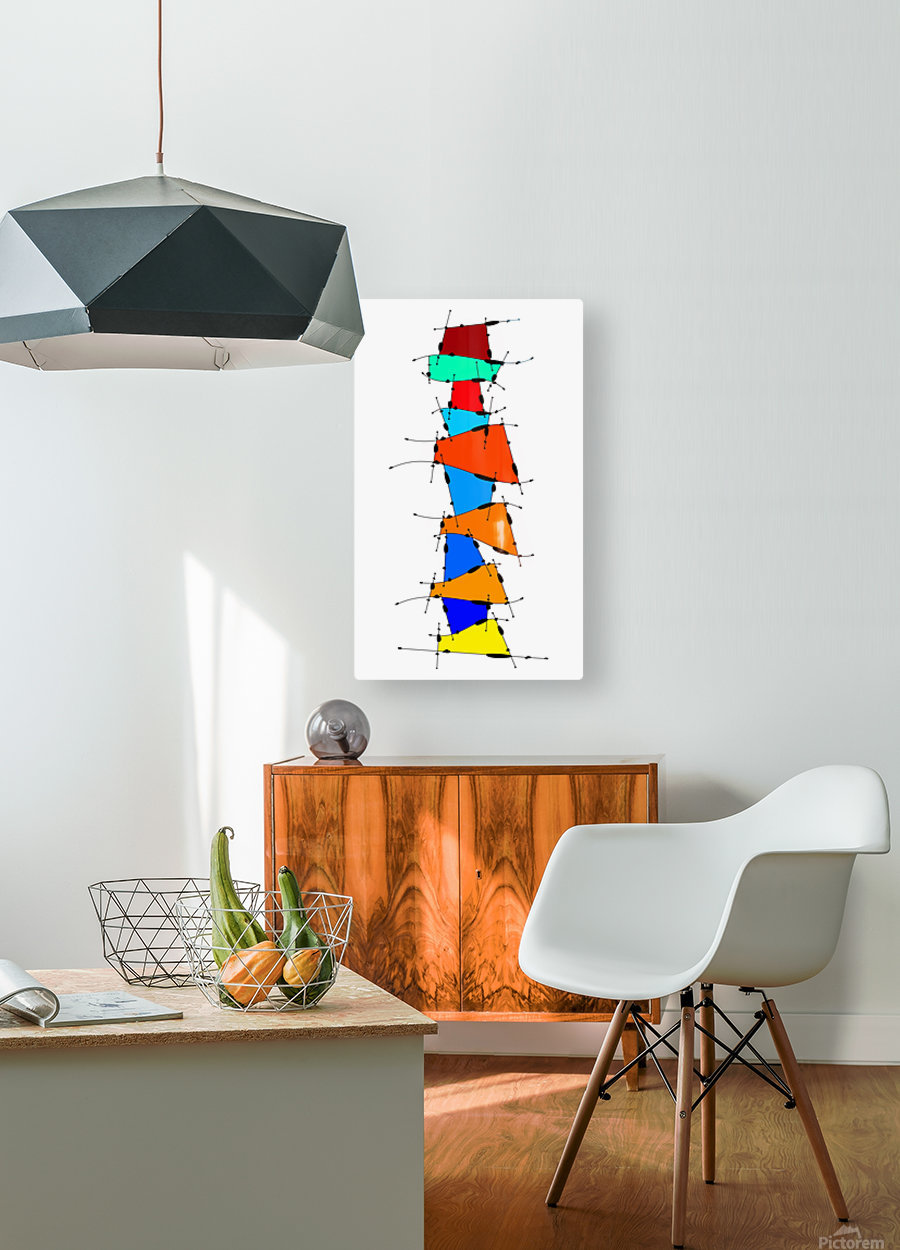 Sanomessia - melting cubes  HD Metal print with Floating Frame on Back