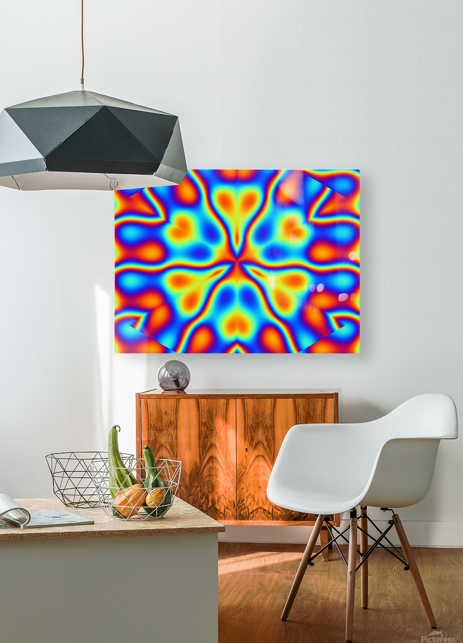 California Wildflowers in Rainbow  HD Metal print with Floating Frame on Back