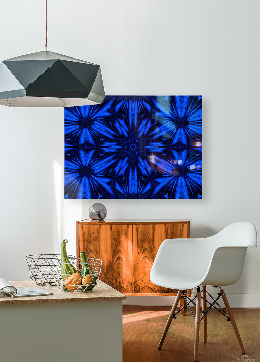 Midnight Flowers  HD Metal print with Floating Frame on Back