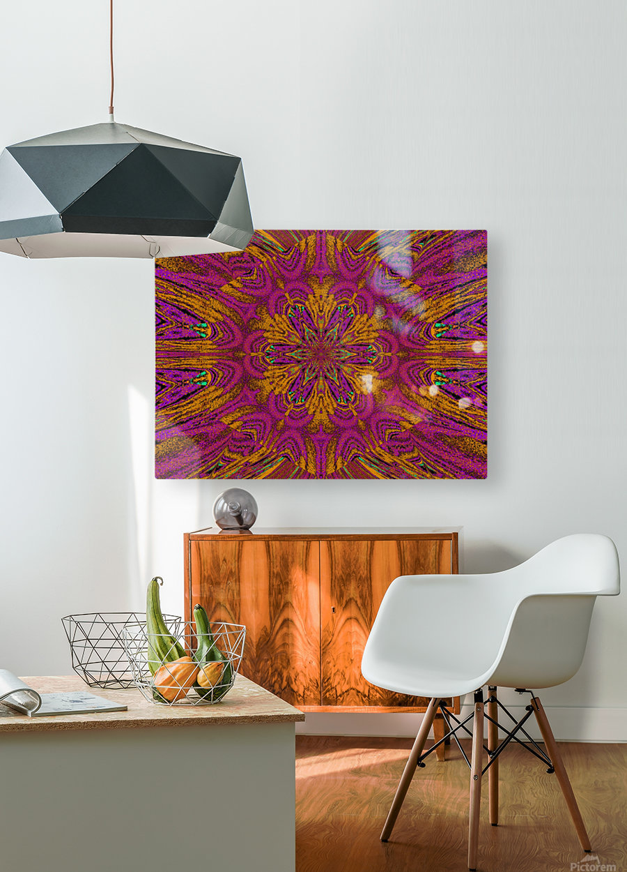 Pink Orange Jasmine  HD Metal print with Floating Frame on Back