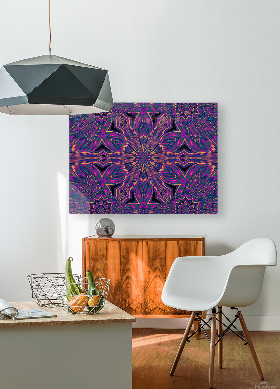 Psychedelic Jasmine 3  HD Metal print with Floating Frame on Back