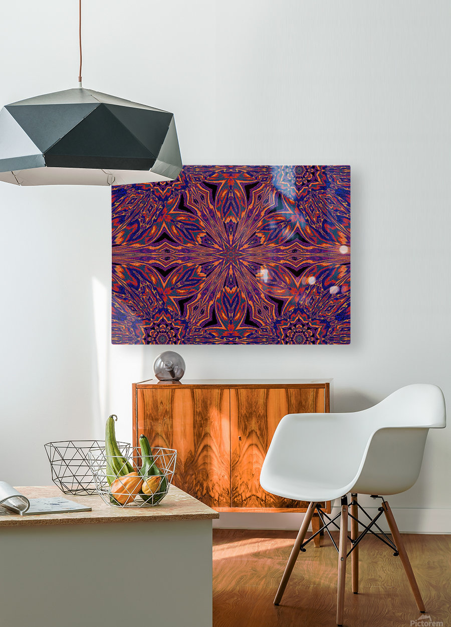 Psychedelic Jasmine 4  HD Metal print with Floating Frame on Back