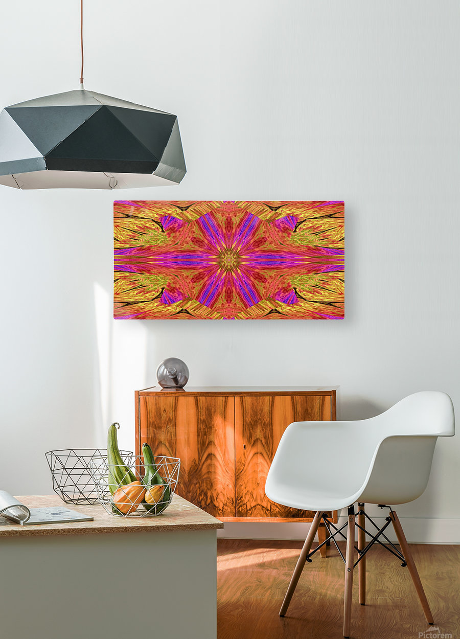 Star Flower in Pink  HD Metal print with Floating Frame on Back