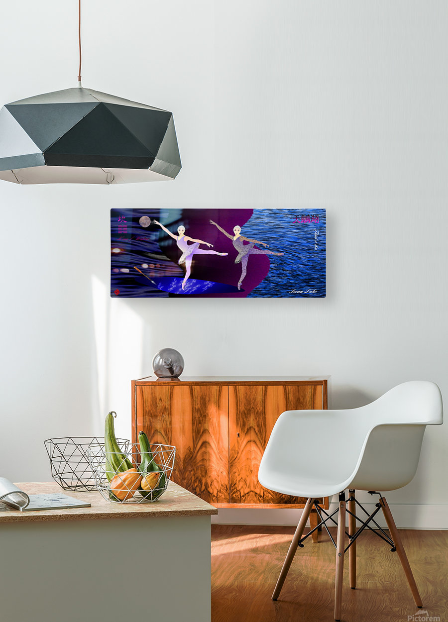 Dance of the Swans  HD Metal print with Floating Frame on Back