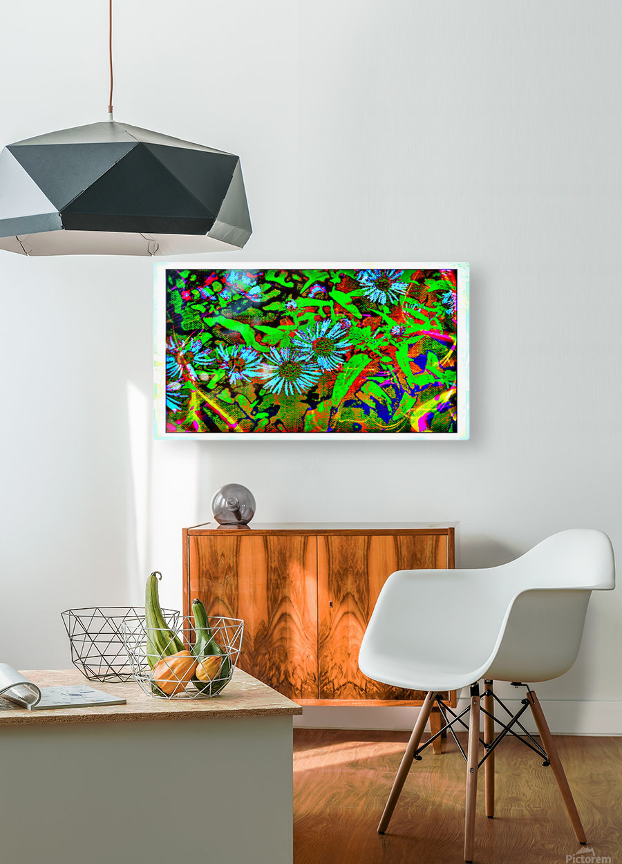 Green Flat-pic art  HD Metal print with Floating Frame on Back