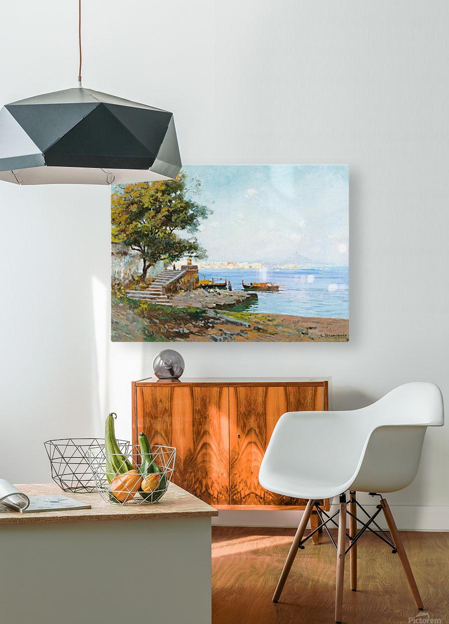 La baie de Naples  HD Metal print with Floating Frame on Back