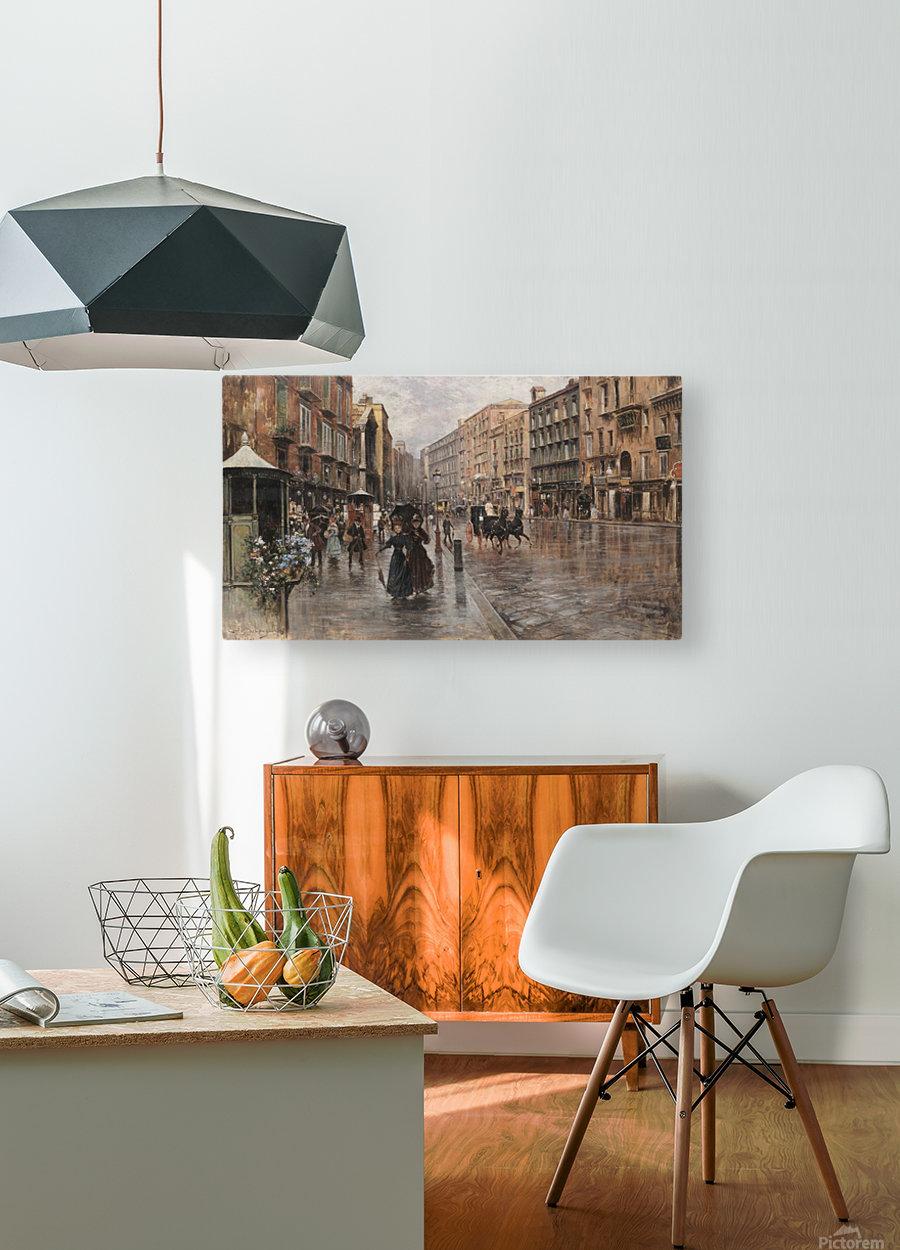 Napoli, Via Toledo  HD Metal print with Floating Frame on Back